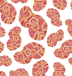 Cartoon seamless cloud pattern vector