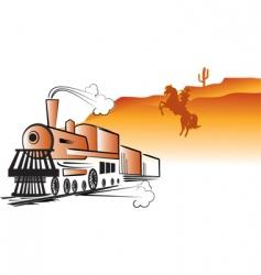 Train cowboy vector