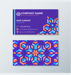 Violet red orange abstract identity business card vector