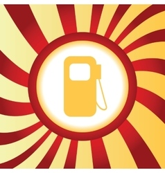 Gas station abstract icon vector