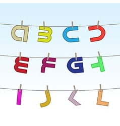 Letters on clothesline vector