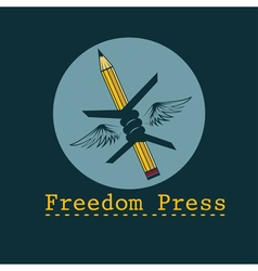 Freedom press concept design template vector