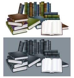 Library books vector