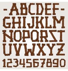 Wooden planks font vector