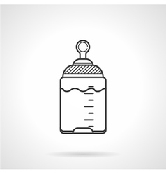 Black line icon for baby bottle vector