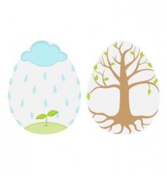 Spring eggs vector