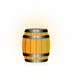 Wooden barrel with honey vector