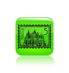 Prague icon vector