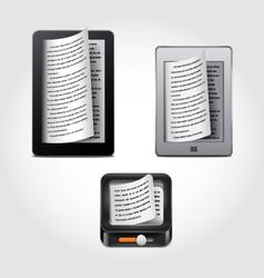 E-reader icons vector