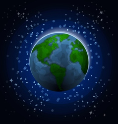 Planet earth in space vector