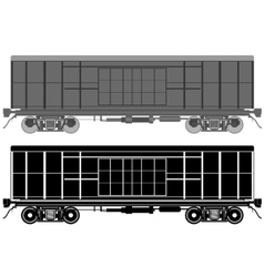 Railway wagon-1 vector