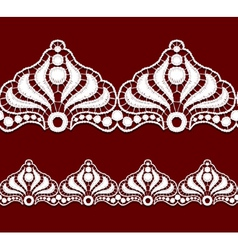Seamless penwork lace border realistic vector