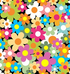 Seamless pattern colorful flower background vector