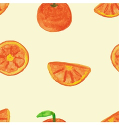 Seamless pattern of orange vector