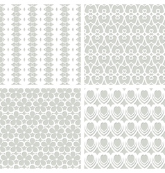 Set of seamless lacy patterns vector