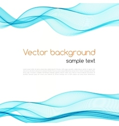 Abstract transparent wave background vector