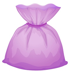 A purple pouch bag vector