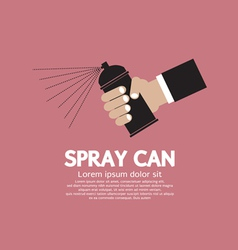 Hand holding spray can eps10 vector