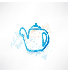 Kettle grunge icon vector
