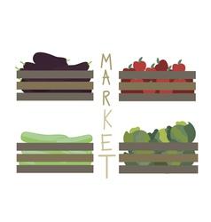Farmer market vegetables vector