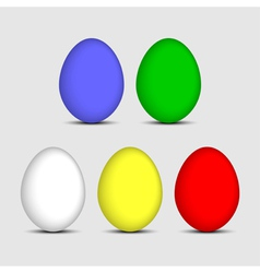 Easter five colored eggs vector