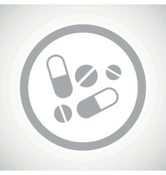 Grey medicine sign icon vector