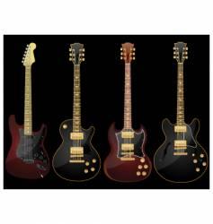Glossy guitars vector