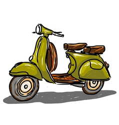 Green scooter vector