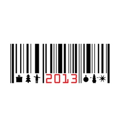 Greeting with 2013 year bar-code vector