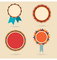 Set of four vintage award bagdes vector