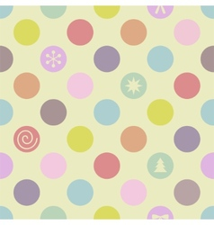 Retro seamless christmas pattern vector