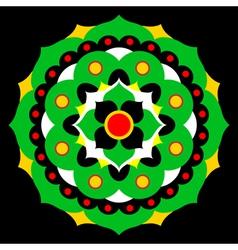 Flower mandala in many colors vector