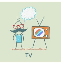 People like to watch tv vector