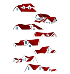 Roofs collection vector