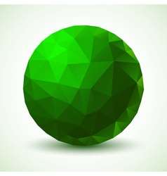 Green geometric ball vector