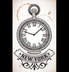 Pocket clock vector