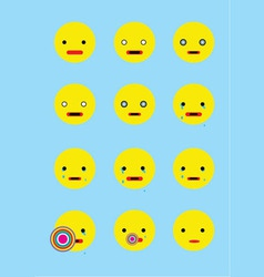 Smile set animation vector