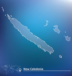 Map of new caledonia vector