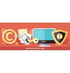 Concept of copyright protection in internet vector