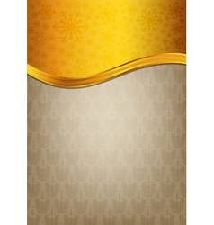 Abstract brown celebration paper with golden vector