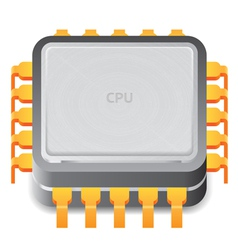 Icon for microprocessor vector