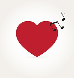 Love heart music rhythm vector