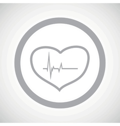 Grey cardiology sign icon vector
