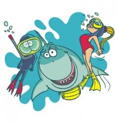 Diving school vector