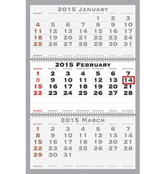 2015 february with red dating mark vector