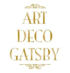 Art deco gatsby vector