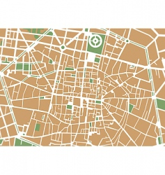 City center map vector
