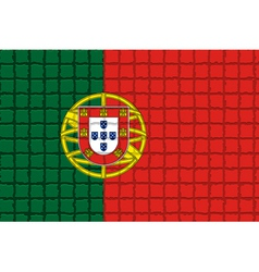 The mosaic flag of portugal vector