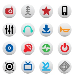 Buttons for music and sound vector