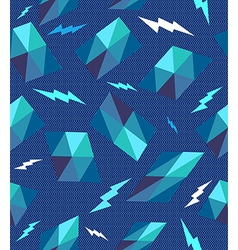 Trendy retro geometric seamless pattern vector